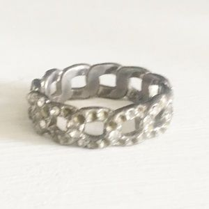 Chloe and Isabel Silver Pave Rhinestone Ring